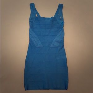 Bebe Sapphire Blue Bandage Mini Dress Small/Medium